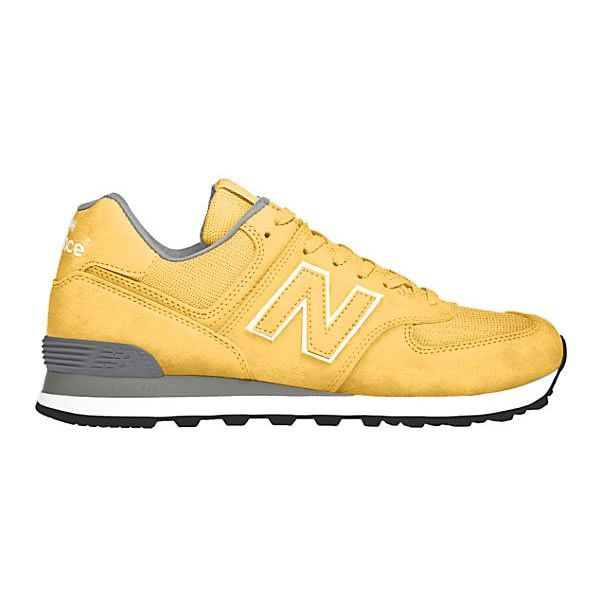 new balance 574 men yellow