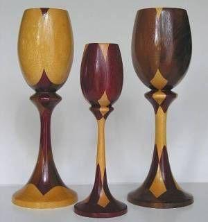 unique staved goblets