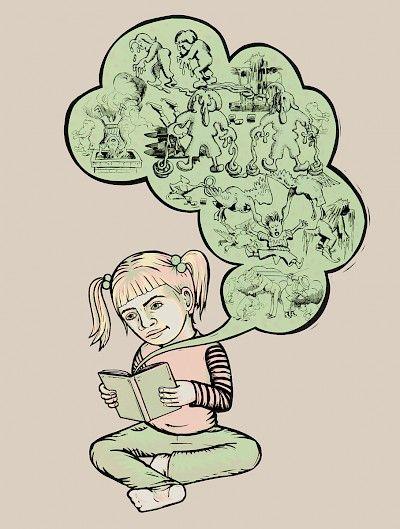 Jenny Schmid, Born: Bainbridge Island, Washington 1969, The Comics Reader (Max and Moritz) (beige version),  24 x 18 inches, 2012