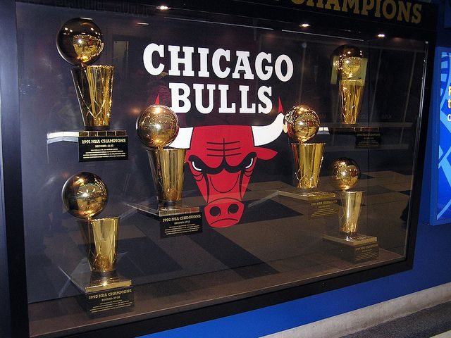 Chicago Bulls Championship Trophies