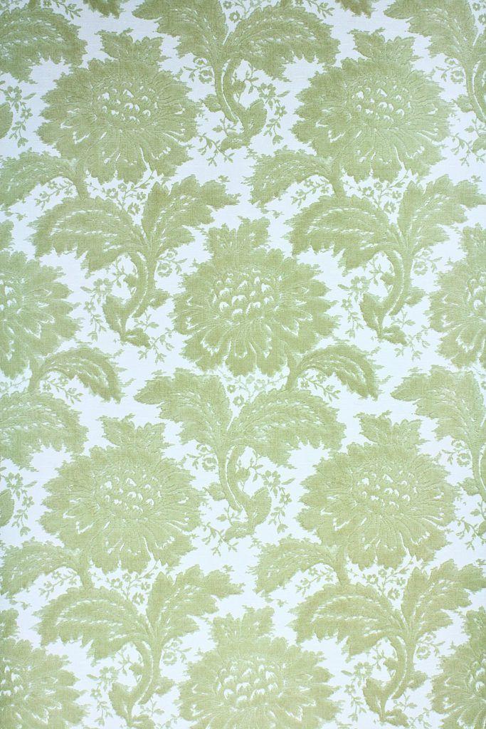 Green Floral Vinyl Wallpaper Vinyl Wallpaper Wallpapers Vintage Wallpaper