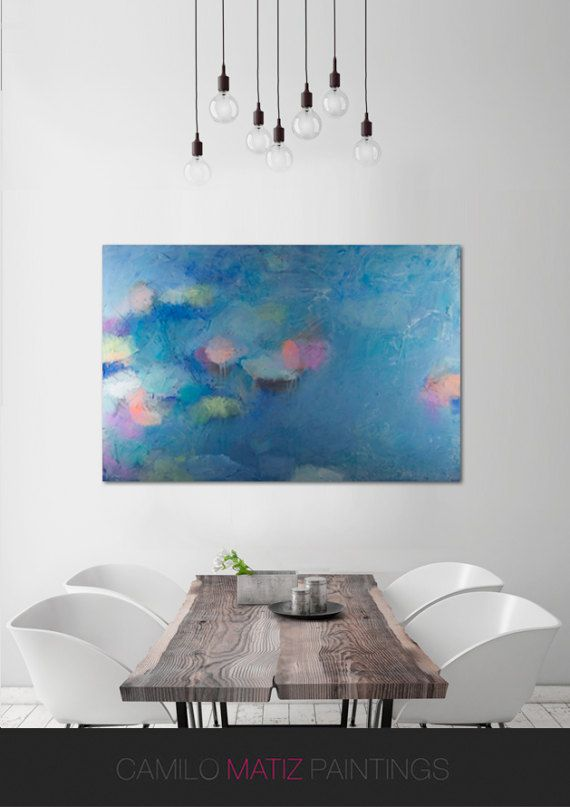 Extra Large Colorful Abstract Modern Wall Art Pop Art Abstract