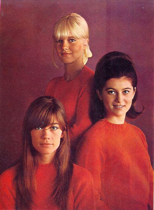 Ye Ye girls - Francoise Hardy, Sylvie Vartan, and Sheila, 1967.