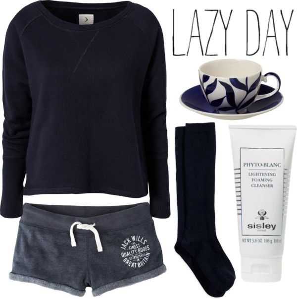 U0026quot;Outfit 79 Lazy Dayu0026quot; By Red-head426 Liked On Polyvore | Fashion | Pinterest | The Shorts Lazy ...