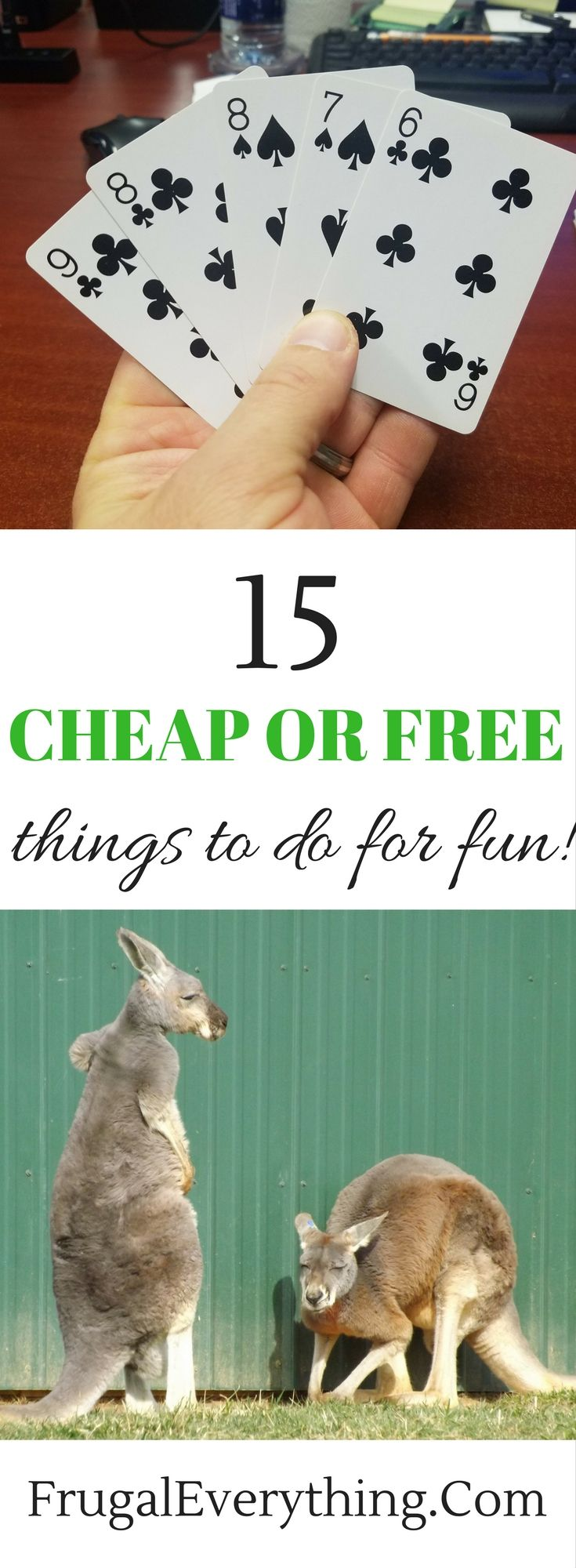 Don't have any money to spend on having fun?  Check out these 15 cheap or free fun activities!