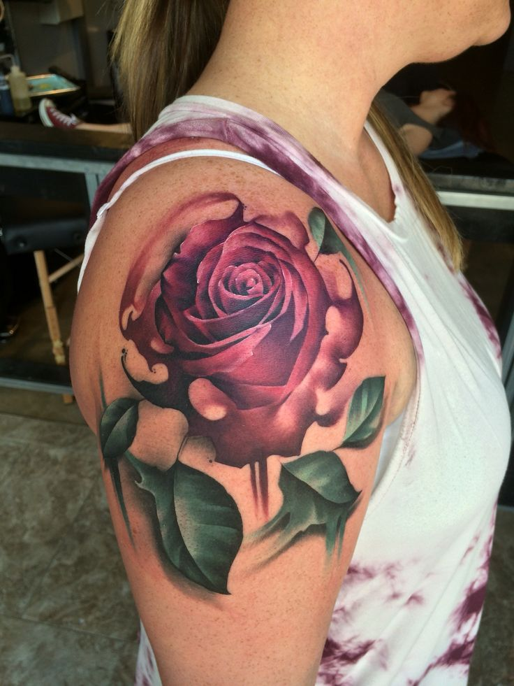 Watercolor rose work by keith miller defining skin for Defining skin tattoo columbus oh