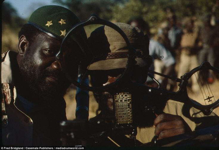 Another colour photograph from the book shows Jonas Savimbi, the Swiss-educated rebel leader of UNITA