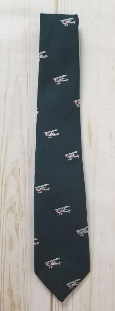 Sporty's Pilot Shop Airplane Flight Airline 100% Polyester Mens Neck Tie #SportysPilotShop #Tie