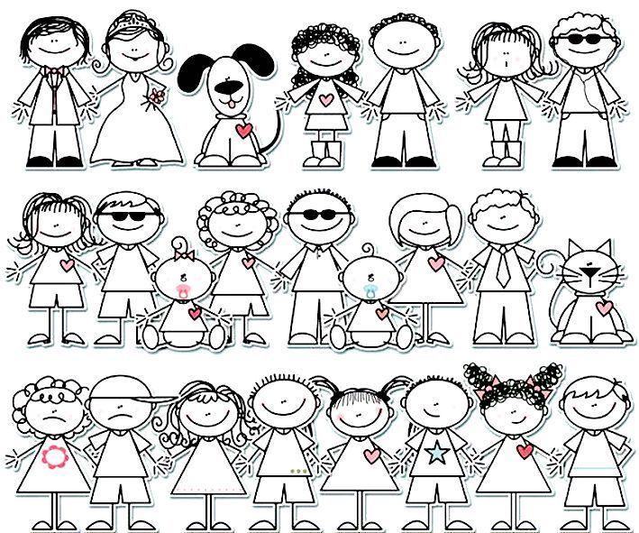 Resultado De Imagen Para Dibujos Simples De Personas Stick Figure Drawing Stick Figures Doodles