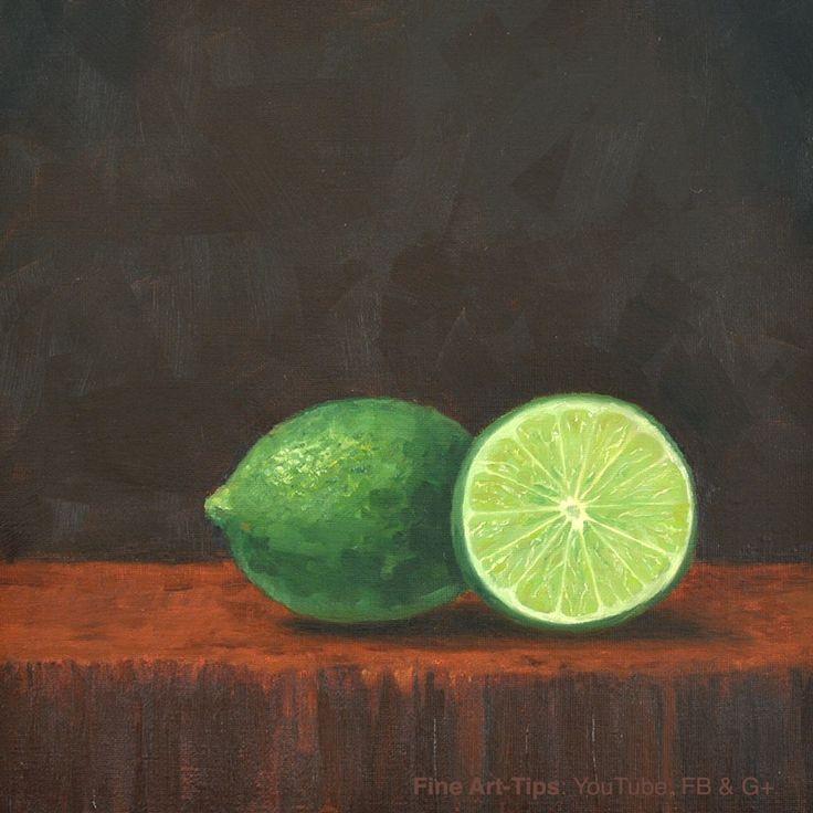 How to Paint a Lime  Watch the tutorial: https://www.youtube.com/watch?v=2OHCu2NvKQk  #art #paint #FineArtTips #oilpaint #lime #fruit #LeonardoPereznieto #artistleonardo  Take a look to my book here: http://www.artistleonardo.com/#!ebooks-english/cswd