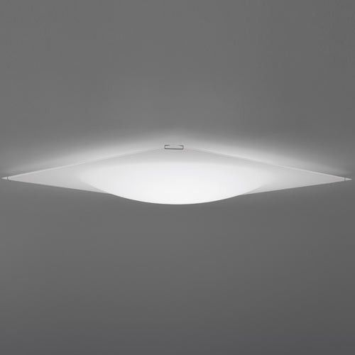 Quadra Ice Flat Ceiling Light halogen or fluorescent 23.75 square 3.5 high $450 sale