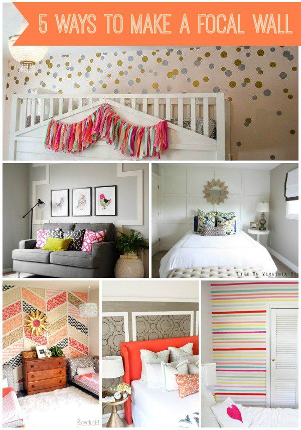 DIY Home Ideas   Check out these five ideas for creating a stunning focal wall!