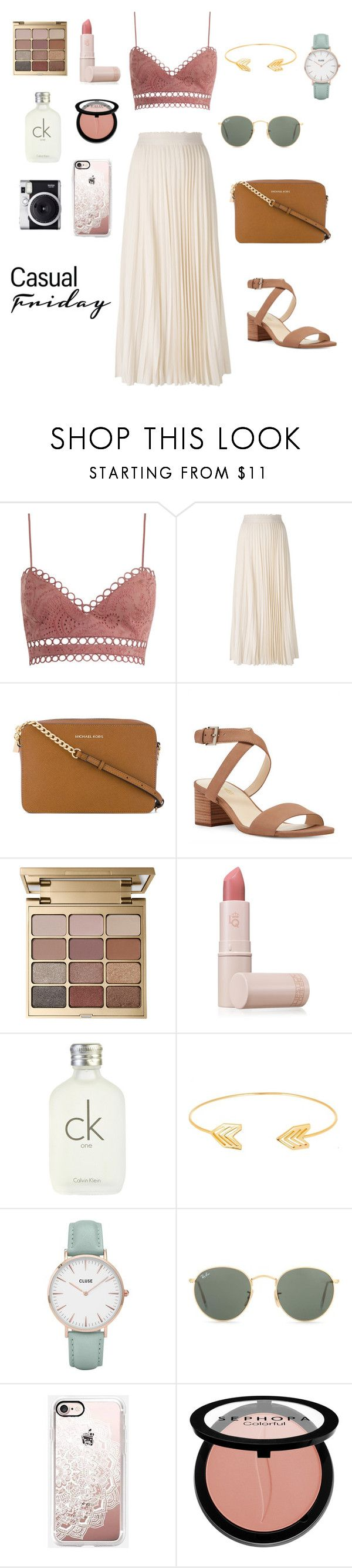 """""""Casual  Friday"""" by itsnadiaaaa on Polyvore featuring Zimmermann, Les Copains, MICHAEL Michael Kors, Nine West, Stila, Lipstick Queen, Calvin Klein, Lord & Taylor, CLUSE and Ray-Ban"""