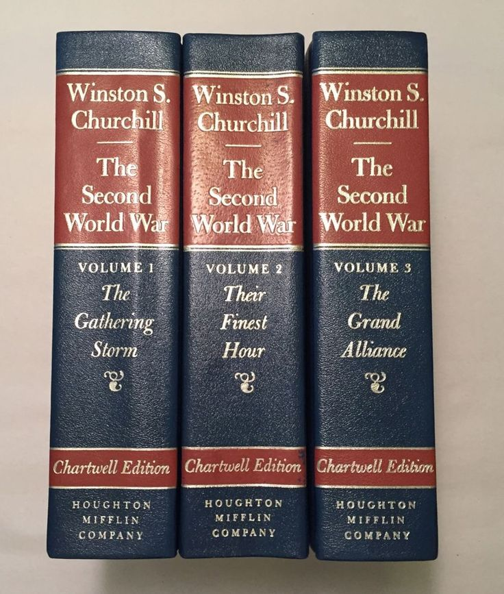 Winston S. Churchill: The Second World War Vol. 1, 2, 3 (1983 Chartwell Edition)