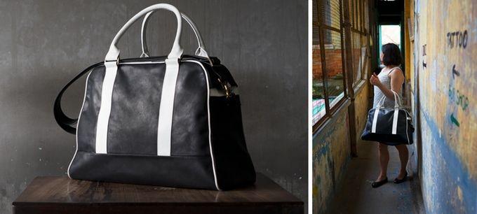 Vintage inspired overnighter / travel bag handmade with veg tan leather