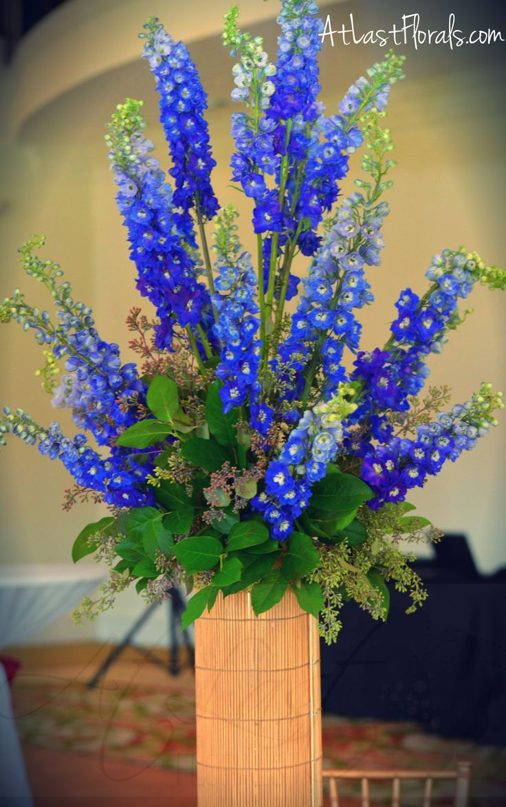 Blue delphinium centerpieces imgkid the image