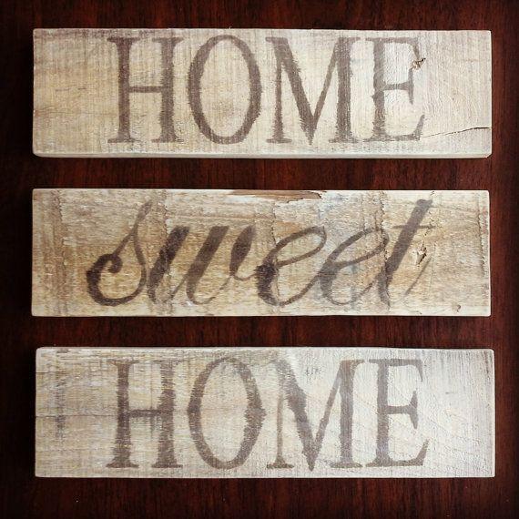 Rustic Home Sweet Home Signs by tdfleurdelis on Etsy, $20