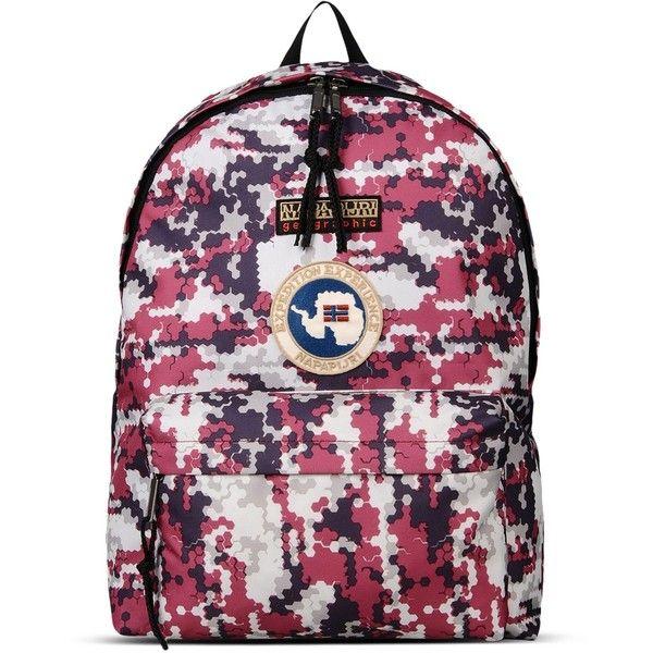 Napapijri Rucksack (295 RON) ❤ liked on Polyvore featuring bags, backpacks, garnet, napapijri, zip bag, purple backpack, strap bag and purple bag