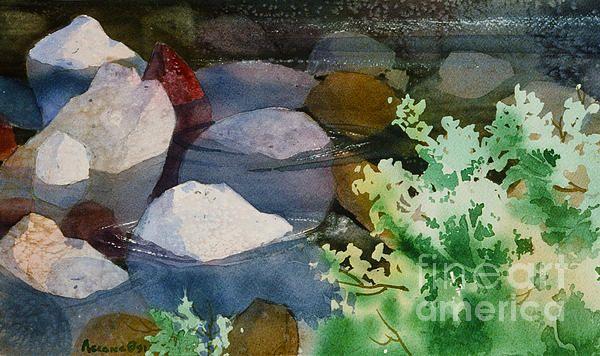 Rocky Creek. watercolor, 11 x 15