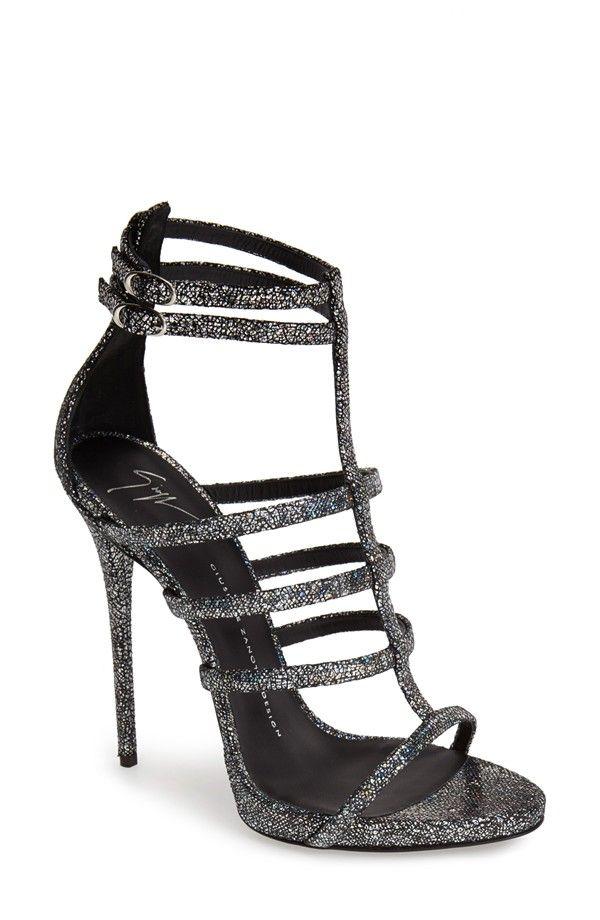 Metallic Strappy Sandal (Women)