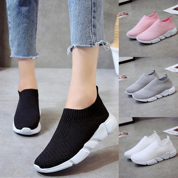 464 90 Mxn 24 46 Dlls Zapato Tennis Slip On Mujer Comfortables Suaves 4 Colores Zapatos Deportivos Mujer Tenis Blancos De Moda Zapatos Tenis Para Mujer