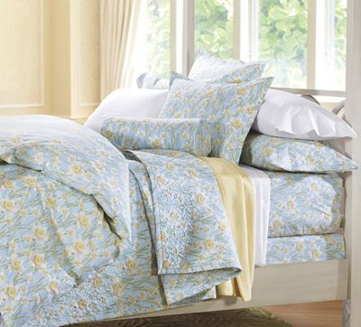daffodils cotton percale duvet cover