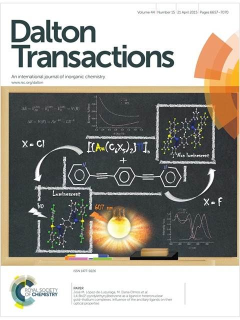 #geoubcsic Determination of ZFS parameters from the EPR spectra of mono-, di- and trinuclear Mn-II complexes: impact of magnetic coupling. Escriche-Tur, L; Font-Bardia, M; Albela, B; Corbella, M. DALTON TRANSACTIONS, v.46(8):2699-2714 [2017]. A family of new MnII compounds, consisting of seven dinuclear, three mononuclear, and four trinuclear ones, were synthesised using benzoic acid derivatives n-RC6H4COOH, where n-R = 2-MeO, 3-MeO, 4-MeO, or 4-tBu, and 2,2′-bipyridine (bpy)...