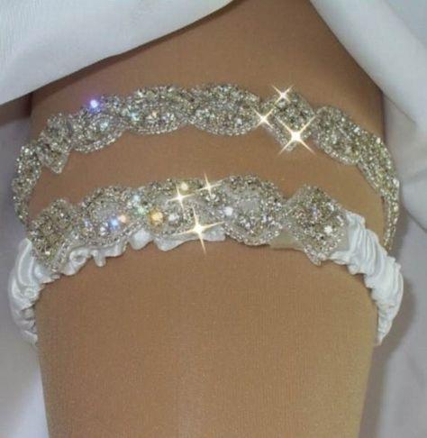 Bridal Garter Wedding Set W Crystals By Bridalambrosia 7700