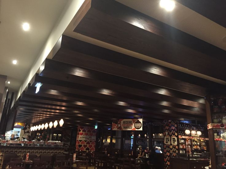 Max Brenner chocolate shop ceiling features