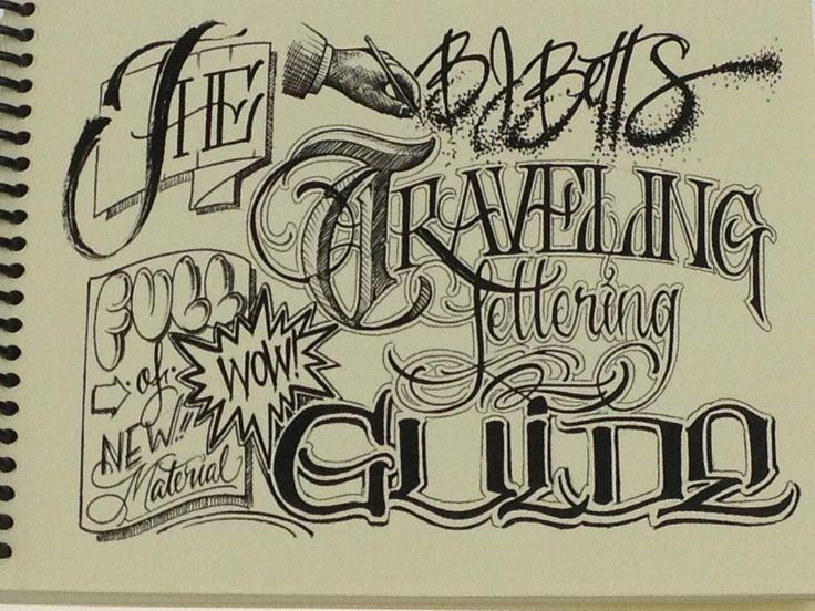 Bj betts lettering guide tattoo book sketchbook