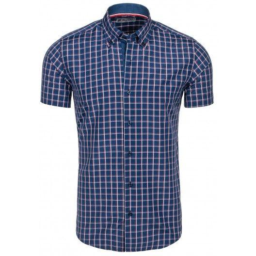 Tmavo modrá pánska košeľa na každú postavu - fashionday.eu
