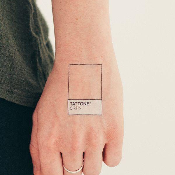 Brilliant Pantone temporary tattoo knockoff.