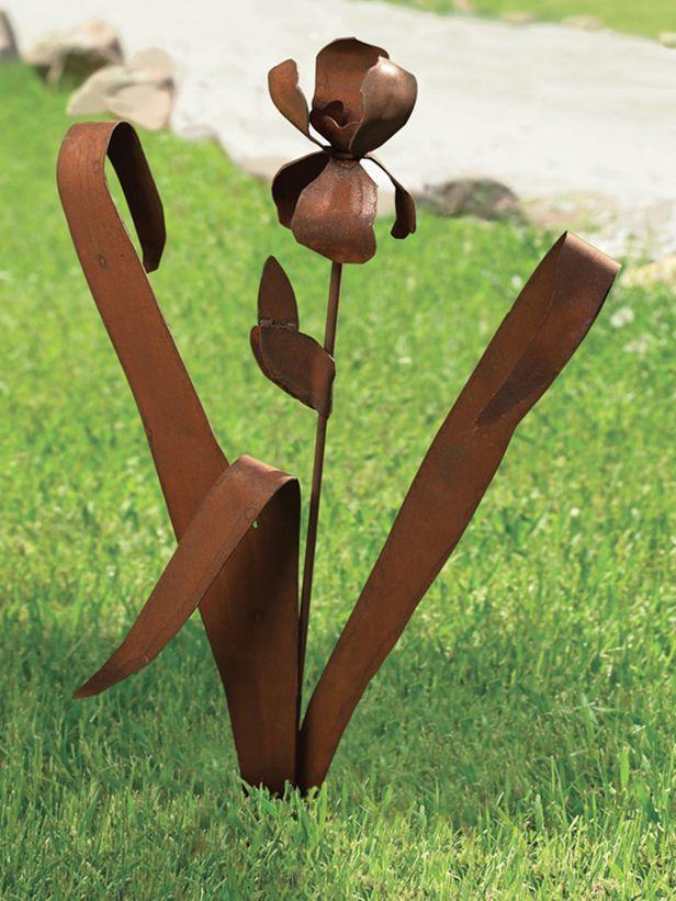 Yard Art! This And 31 Other Great Gifts For Gardeners, Picked By  HGTVGardens Editors · Iris GardenGarden StakesOrganic GardeningMetal ...