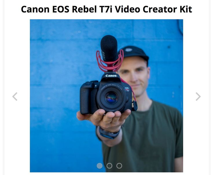 End Date: 12/19/2017, Eligibility: US/CAN/WW Enter to #win a Canon EOS Rebel T7i Video Creator Kit in this #giveaway from SeanCannell.com.