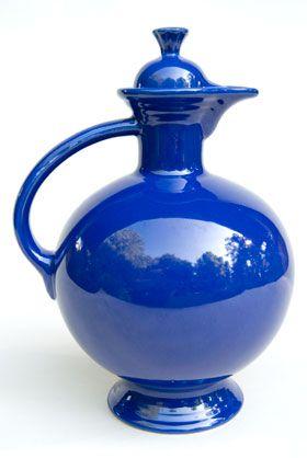 Vintage Fiesta Carafe in Original Cobalt: Fiestaware: Genuine, Old, Antique, For Sale, Gift