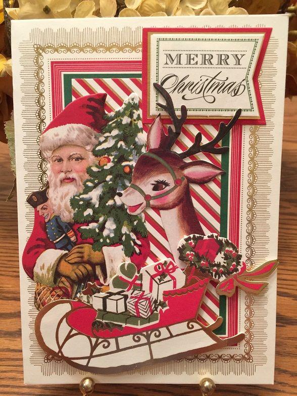 Anna Griffin Christmas Card Using An Ag 5 X 7 Pretty Pattern Card An Ag Holiday Vintage Card Anna Griffin Christmas Cards Anna Griffin Cards Christmas Cards