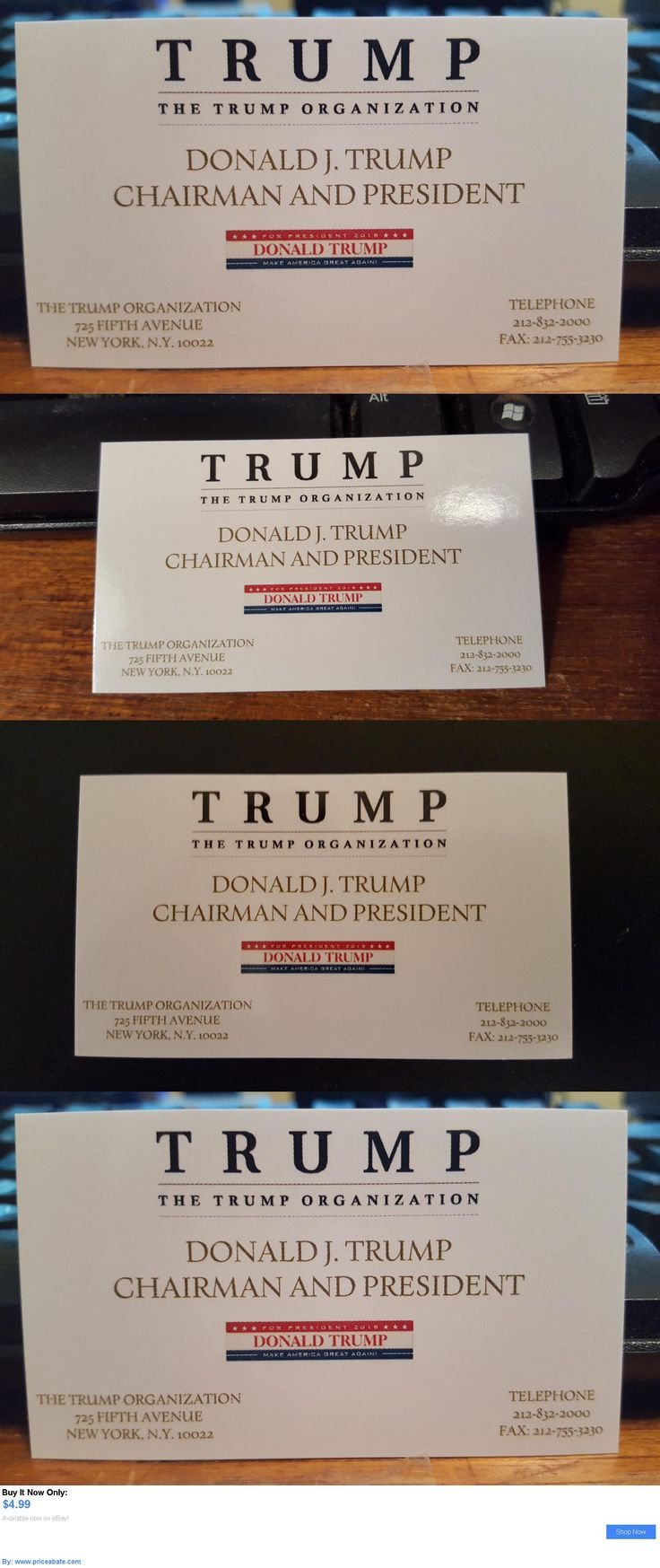 donald trump: Donald Trump Business Card Republican Candidate Gop Presidential Race 2016 New BUY IT NOW ONLY: $4.99 #priceabatedonaldtrump OR #priceabate