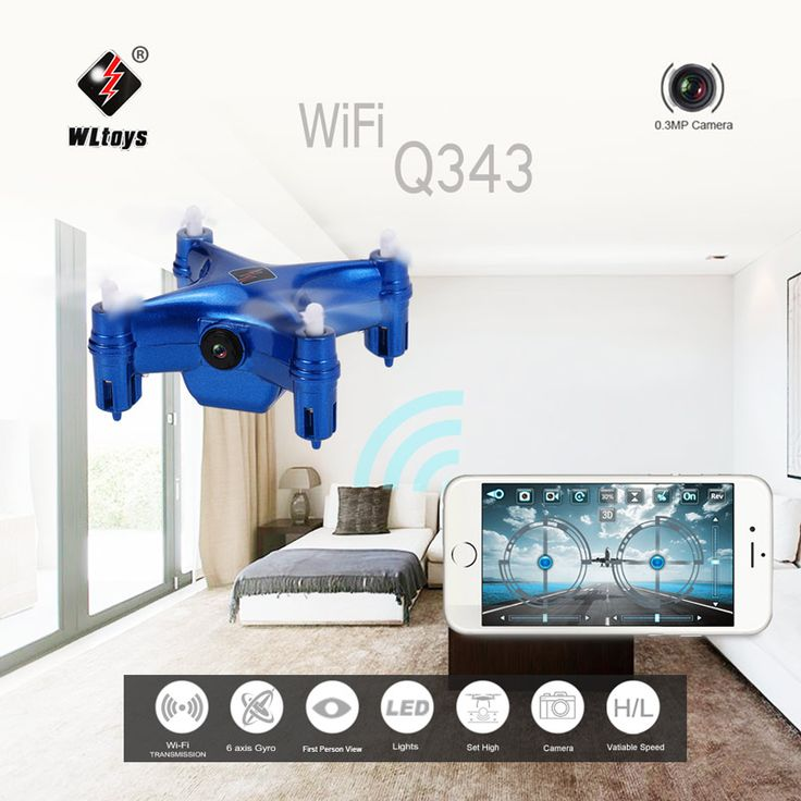 Only RAND345.97, blau Original WLtoys Q343 WiFi FPV Mini RC Quadcopter with 0.3MP - Tomtop.com