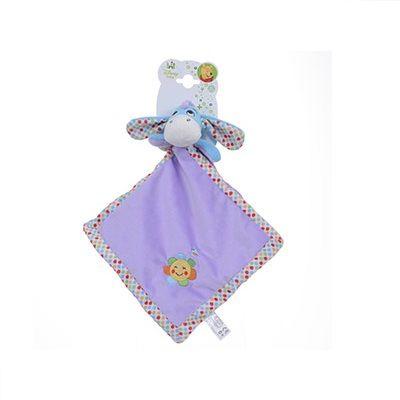 Doudou Bourriquet Disney - bambinovpc En velours violet tout doux, il accompagnera bébé partout ! Lavabe en machine. Dès la naissance. Dimension : environ 22 x 22 cm.