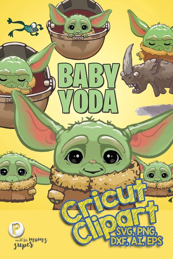 Star Wars Baby Yoda Bundle SVG, Cricut, Clipart, PNG