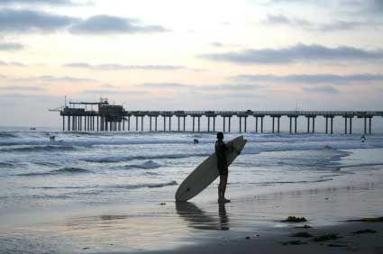 Surfer Checking Out Small Surf at La Jolla Shores: Photos Galleries, Favorite Places, Scripp Pier, Getty Image Istockphoto, Lajolla Shore, La Jolla, Beautiful Beaches, Getty Images Istockphoto, Beaches Photos