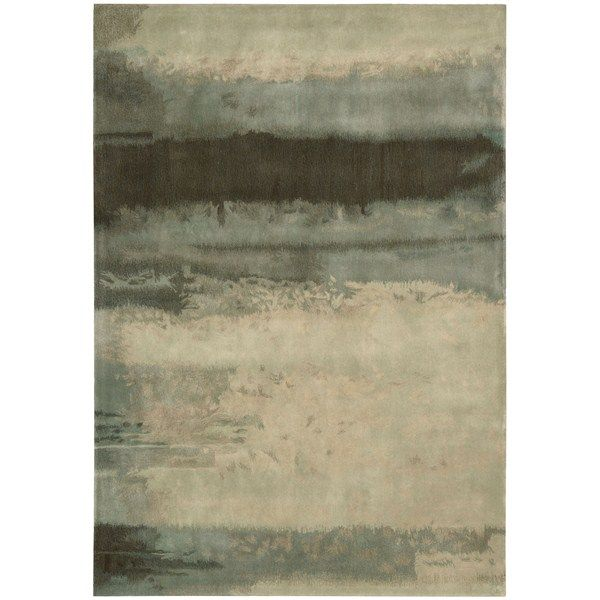 Calvin Klein Luster Wash Rugs SW10 LTG Light Green - Free UK Delivery - The Rug Seller