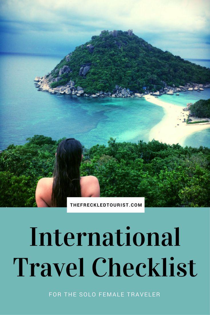 International travel checklist for solo travelers