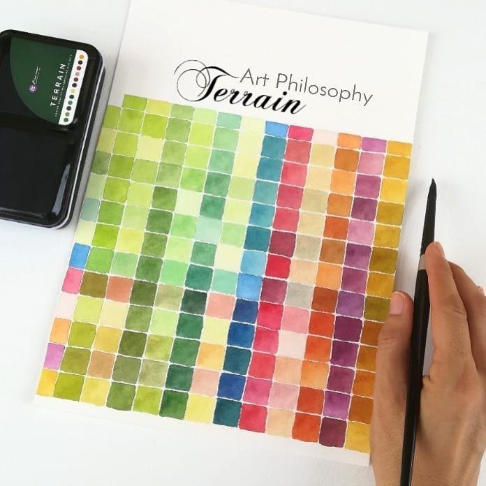 Watercolor Confections Terrain Watercolor Desert Painting Watercolor Mixing