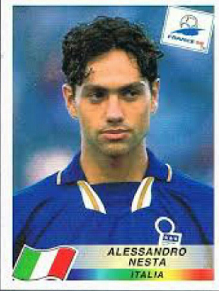 Alessandro Nesta of Italy. 1998 World Cup Finals card.