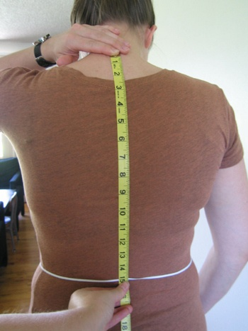 how to take ladies measurements