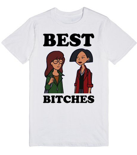 http://skreened.com/royal_attitude/best-bitches-daria-morgendorffer-and-jane-lane?Best Bitches | Daria Morgendorffer and Jane Lane | T-Shirt | Front