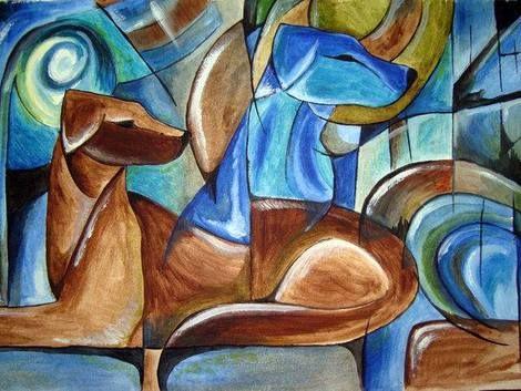 Franz Marc, Blue dog on ArtStack #franz-marc #art