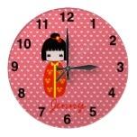 Personalised Kokeshi Doll, Wall Clocks  http://www.zazzle.com/personalised_kokeshi_doll_wall_clocks-256125640210549209