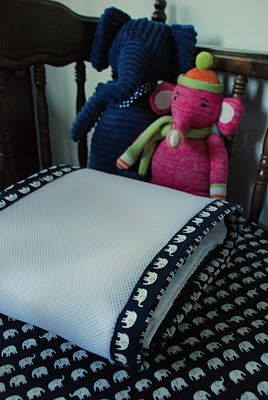 add binding to breathable bumper to match crib sheets/skirt